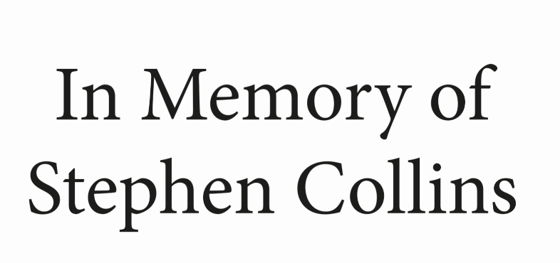 Memory of Stephen Collins